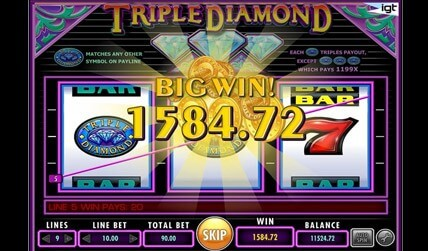 Triple Diamond Slot screenshot 2