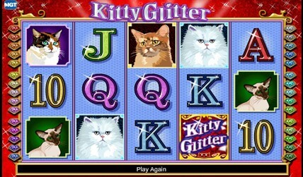 Kitty Glitter Slot screenshot 2